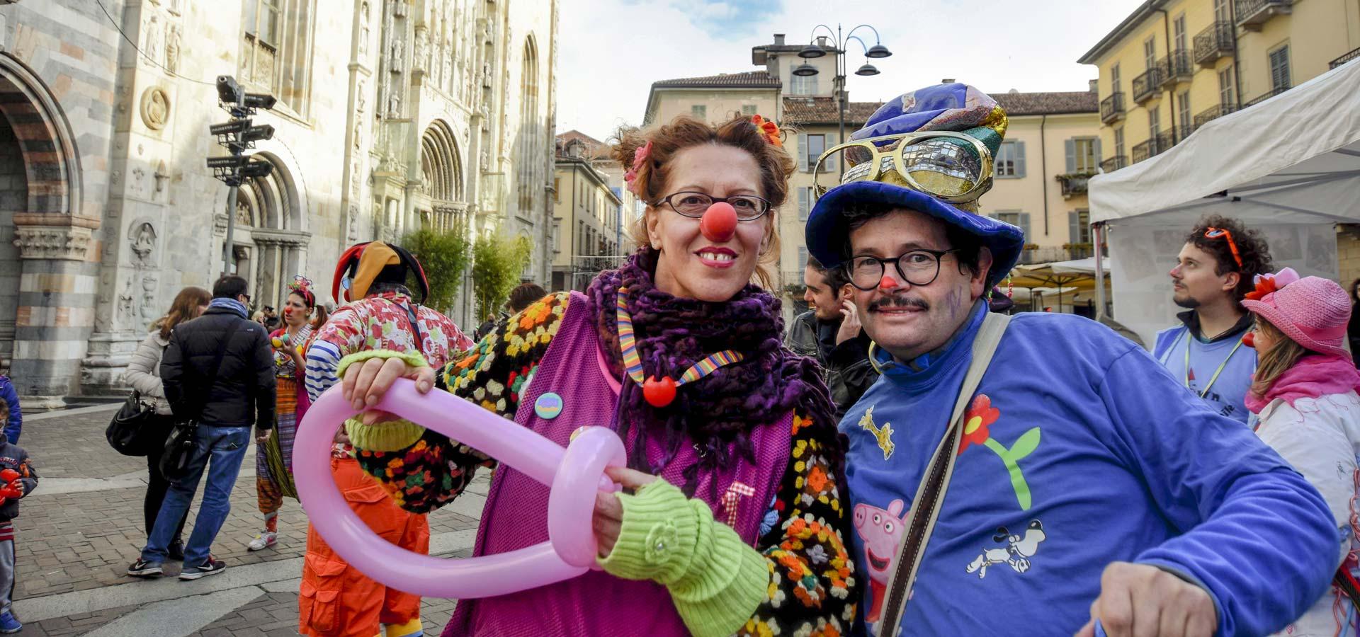 Clown Sociali in piazza a Como